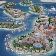 City Model Dubai islands