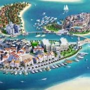 City Model Dubai water detail