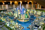 City Model illuminiated Dubai