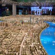 City Model Shanghai aerial view