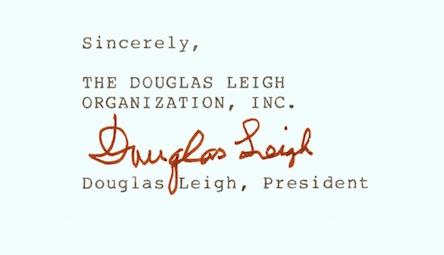 Douglas Leigh signature