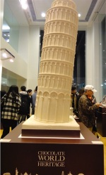 White Chocolate Leaning Tower